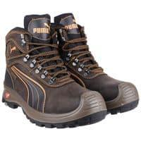 Puma Safety Sierra Nervada Mid Waterproof Safety Footwear Brown